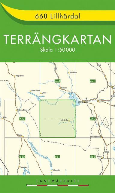 bokomslag 668 Lillhärdal Terrängkartan : 1:50000