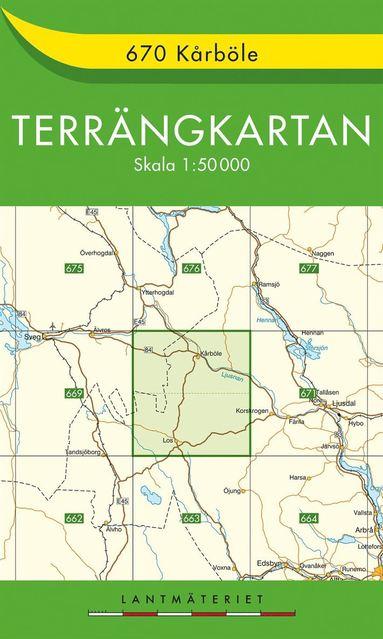 bokomslag 670 Kårböle Terrängkartan