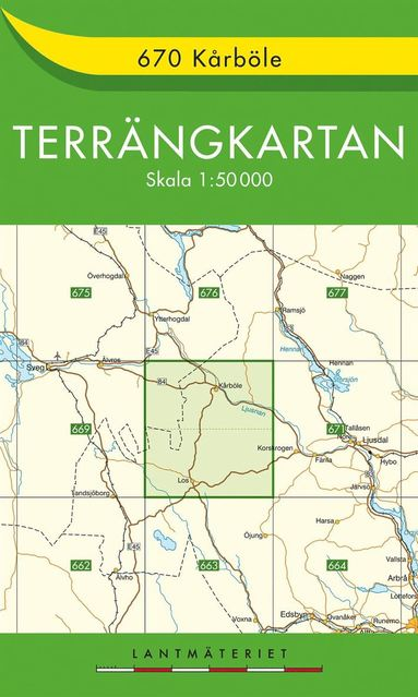 bokomslag 670 Kårböle Terrängkartan : 1:50000