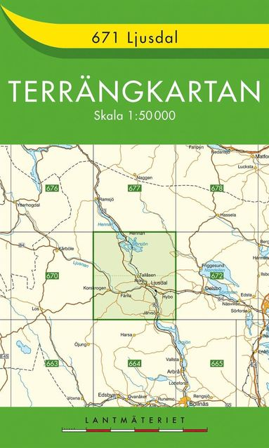 bokomslag 671 Ljusdal Terrängkartan