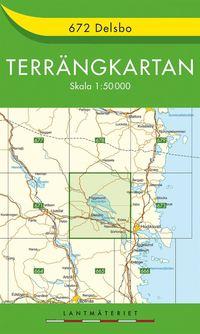 672 Delsbo Terrängkartan : 1:50000