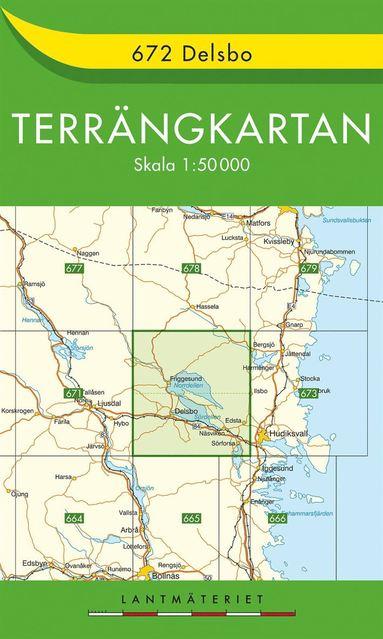 bokomslag 672 Delsbo Terrängkartan : 1:50000