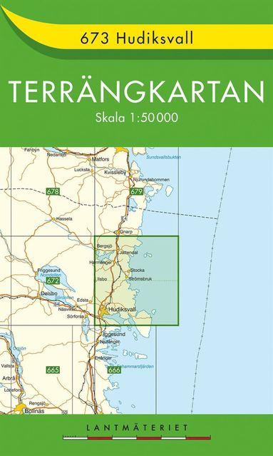 bokomslag 673 Hudiksvall Terrängkartan : 1:50000