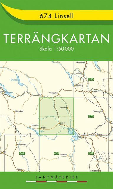 bokomslag 674 Linsell Terrängkartan