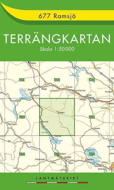 bokomslag 677 Ramsjö Terrängkartan : 1:50000