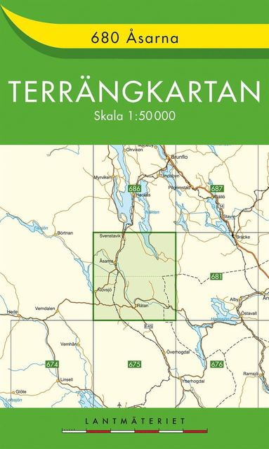 bokomslag 680 Åsarna Terrängkartan : 1:50000