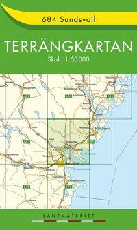 bokomslag 684 Sundsvall Terrängkartan : 1:50000