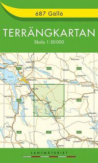 bokomslag 687 Gällö Terrängkartan