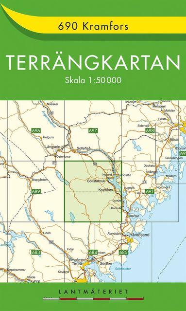 bokomslag 690 Kramfors Terrängkartan