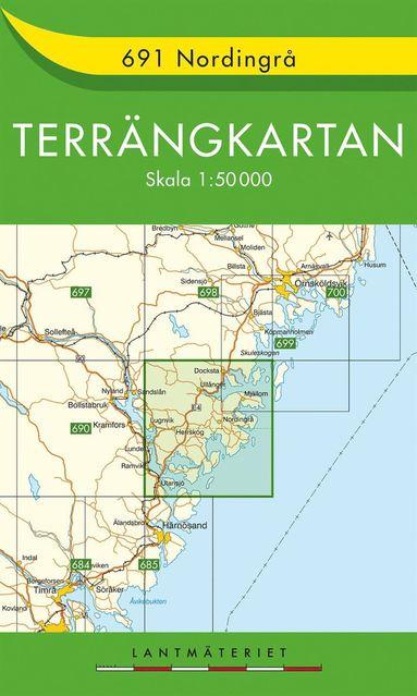 bokomslag 691 Nordingrå Terrängkartan : 1:50000