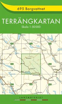 bokomslag 695 Borgvattnet Terrängkartan : 1:50000