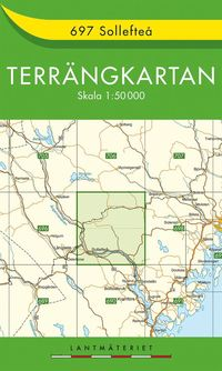 bokomslag 697 Sollefteå Terrängkartan
