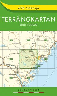 bokomslag 698 Sidensjö Terrängkartan : 1:50000