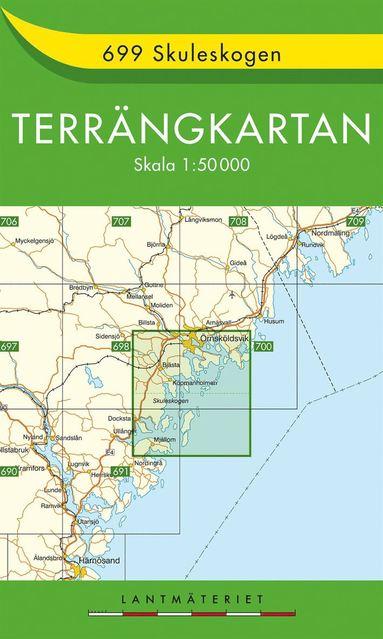 bokomslag 699 Skuleskogen Terrängkartan : 1:50000