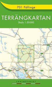 bokomslag 701 Föllinge Terrängkartan : 1:50000