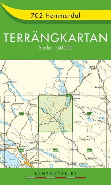 bokomslag 702 Hammerdal Terrängkartan