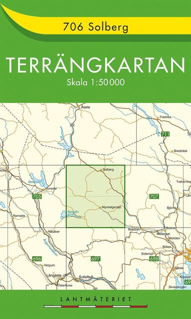 bokomslag 706 Solberg Terrängkartan