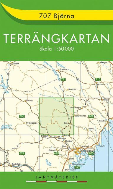 bokomslag 707 Björna Terrängkartan