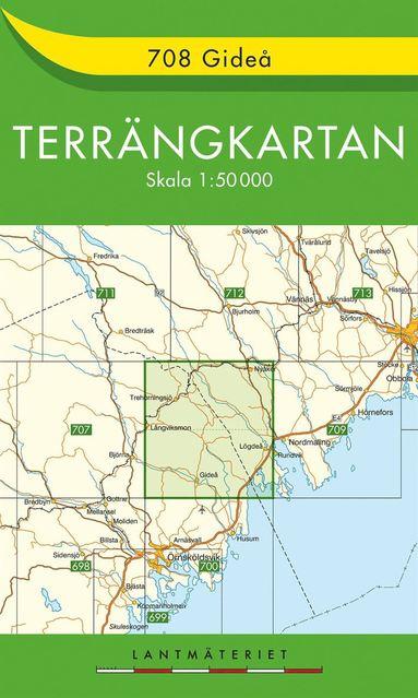 bokomslag 708 Gideå Terrängkartan
