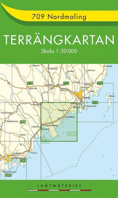 bokomslag 709 Nordmaling Terrängkartan : 1:50000