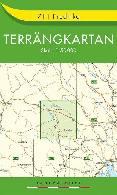 bokomslag 711 Fredrika Terrängkartan