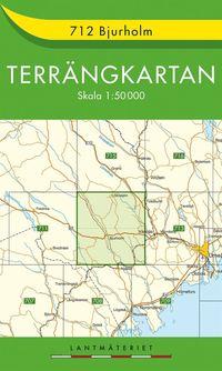 bokomslag 712 Bjurholm Terrängkartan : 1:50 000