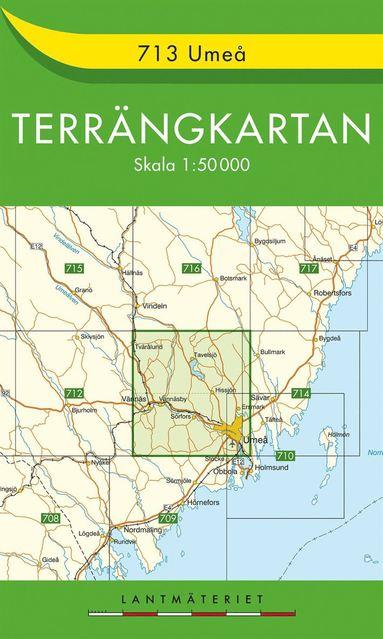 bokomslag 713 Umeå Terrängkartan : 1:50000