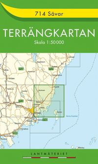 714 Sävar Terrängkartan : 1:50000