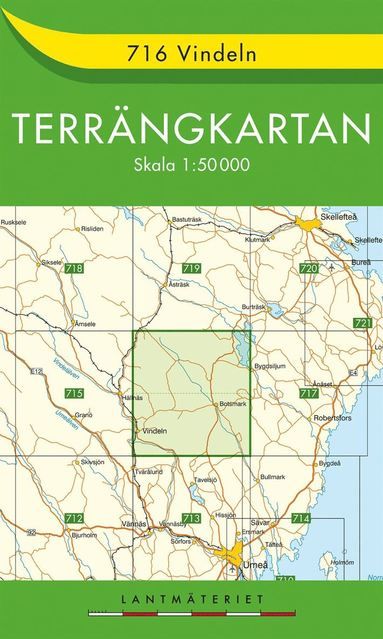 bokomslag 716 Vindeln Terrängkartan : 1:50000