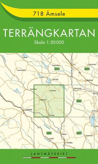 bokomslag 718 Åmsele Terrängkartan : 1:50000