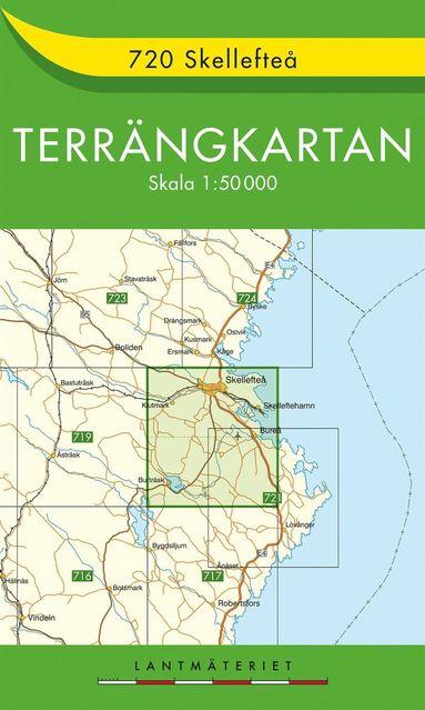 bokomslag 720 Skellefteå Terrängkartan : 1:50000