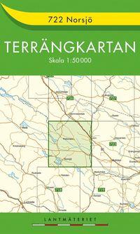 bokomslag 722 Norsjö Terrängkartan : 1:50000