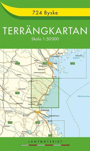 bokomslag 724 Byske Terrängkartan : 1:50000