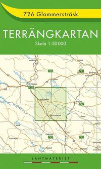 bokomslag 726 Glommersträsk Terrängkartan : 1:50000