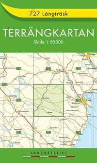 bokomslag 727 Långträsk Terrängkartan : 1:50000