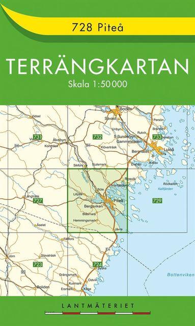 bokomslag 728 Piteå Terrängkartan : 1:50000