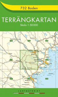 bokomslag 732 Boden Terrängkartan
