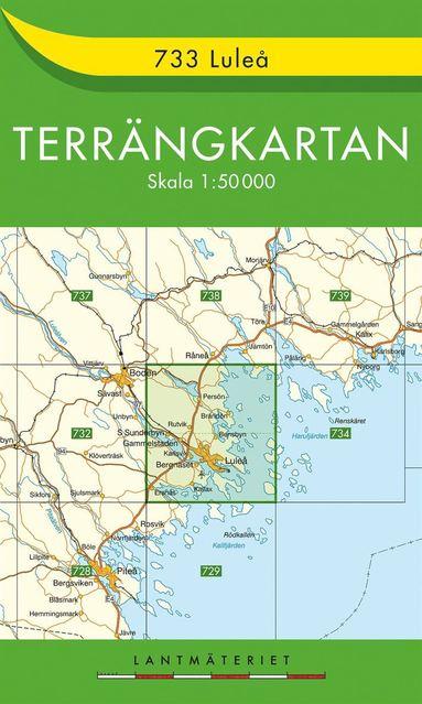 bokomslag 733 Luleå Terrängkartan : 1:50000