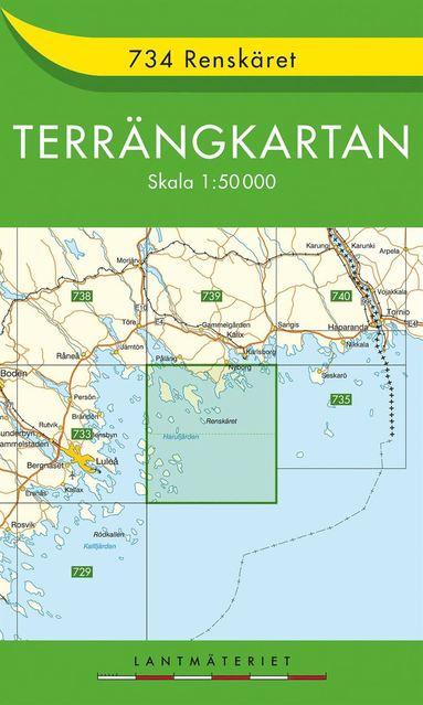 bokomslag 734 Renskäret Terrängkartan