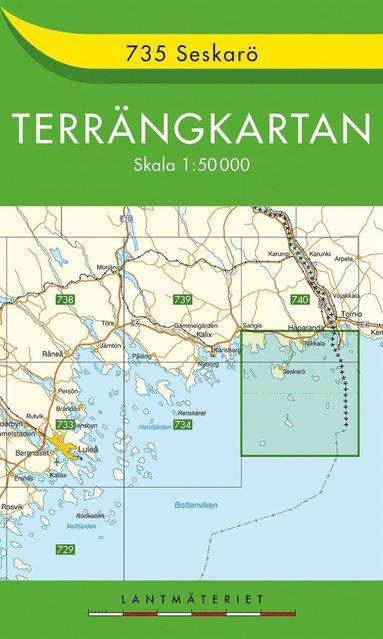 bokomslag 735 Seskarö Terrängkartan