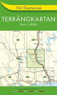 bokomslag 742 Övertorneå Terrängkartan : 1:50000