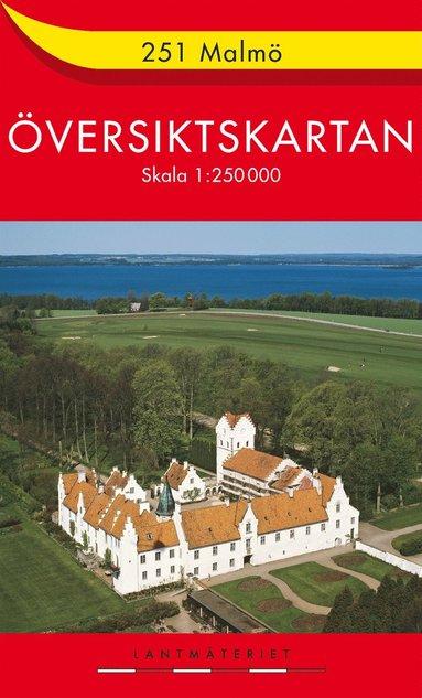 bokomslag 251 Malmö Översiktskartan : 1:250000
