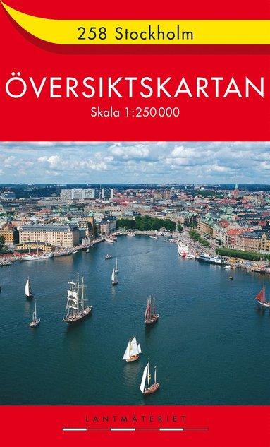 bokomslag 258 Stockholm Översiktskartan : 1:250000