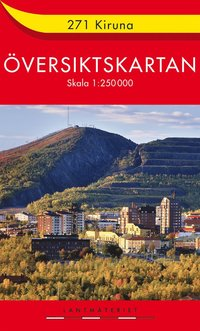 bokomslag 271 Kiruna Översiktskartan : 1:250000