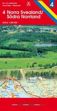 bokomslag Norra svealand 6 södra norrland bil & turist karta nr. 4 : 1:250000