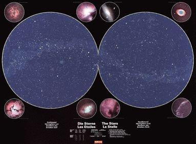 bokomslag The stars Hallwag stjärnkarta i tub : Stjärnkarta ha i rör
