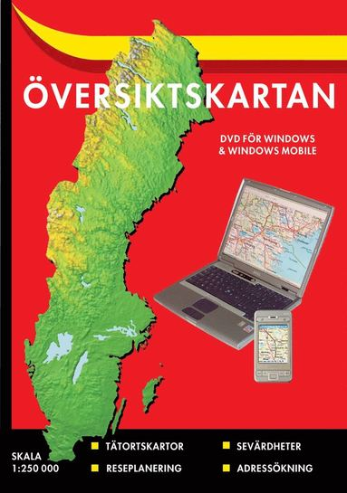 bokomslag Översiktskartan cd (5) : 1:250000 ÖVERSIKTSKARTAN CD KARTEX 5