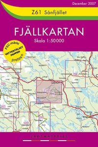 bokomslag Z61 Sånfjället fjällkartan : 1:50000