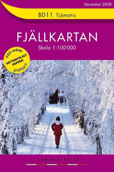bokomslag BD11 Tjåmotis fjällkartan : 1:100000