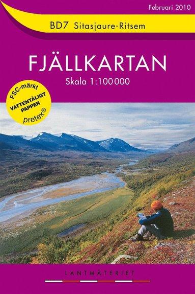 bokomslag BD7 Sitasjaure-Ritsem 1:100000 - Fjällkarta